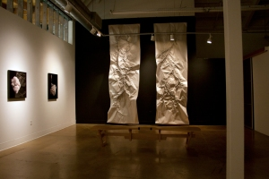 Night shot installation at Swarm Gallery in Oakland
